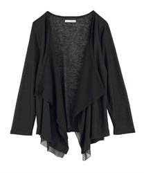 Slub Cut Draped Cardigan