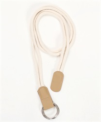 synthetic leather rope belt [online only](Beige-M)