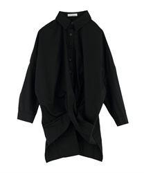 Twisted Shirt Style Pullover(Black-Free)