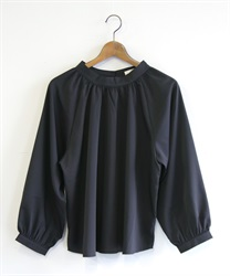 Gather volume blouse(Black-Free)