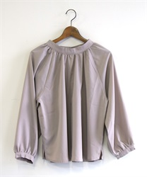 Gather volume blouse(Greige-Free)