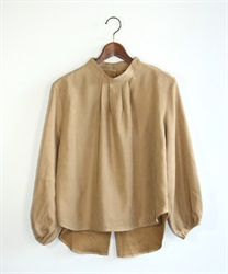Back button pullover(Beige-Free)