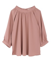 Gathering volume blouse(Pale pink-Free)