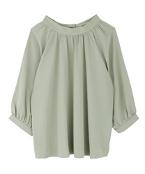 Gathering volume blouse(Green-Free)