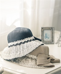 Multi-functional UV hat with lace