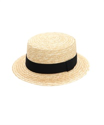 Wheat Braid Boater(Black-M)
