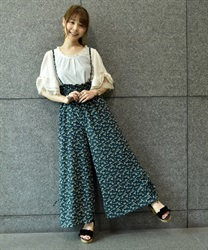 Wide pants_MK242X12(Blue green-Free)