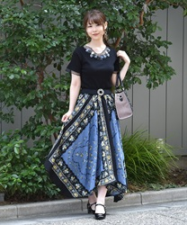 【MAX80%OFF】Long skirt_MK291X46(Blue-Free)