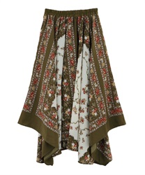 【MAX80%OFF】Long skirt_MK291X46(Khaki-Free)