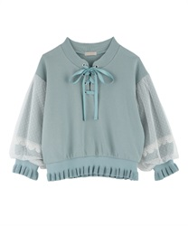 Lace-up pullover(Green-Free)