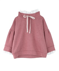 Pleated ruffle pullover(DarkPink-Free)