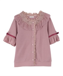 Sheer Rose Lace Cut Cardigan
