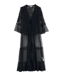 Layered Lace Gown(Black-Free)