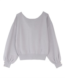 Back lace-up knit(Lavender-Free)