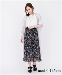 【2Buy20%OFF】Floral T-Shirt Docking Dress(Black-Free)