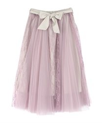 Lace & Tulle Long SK(Purple-Free)
