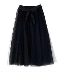 Lace & Tulle Long SK(Black-Free)