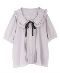 Pin tuck design blouse(Pale pink-Free)