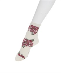 Rose Bouquet pattern socks