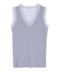 Back lace tank t(Blue-Free)
