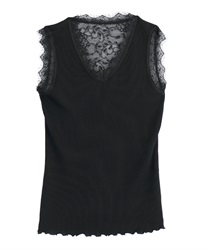 Back lace tank t(Black-Free)