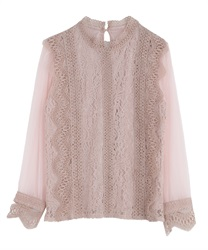 Lace pullover(Pale pink-Free)