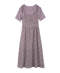 Flower Print Cami Dress(Purple-Free)