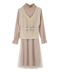 Dress_TE20SSX38(Beige-Free)