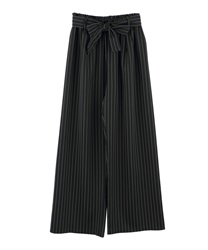 Striped pants(Black-Free)