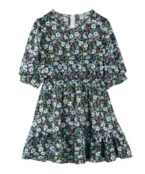 Small Flower Print Tunic(Green-Free)