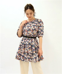 Small Flower Print Tunic