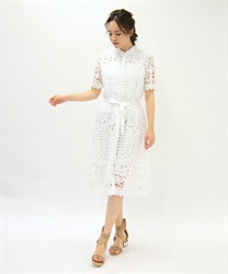 Full Length Lace Scalloped Dress