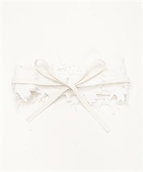 Flower Lace Sash Belt(White-M)