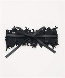 Flower Lace Sash Belt(Black-M)
