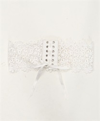 Front High Laced Corset Belt(White-M)