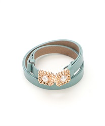 Adjustable Thin Belt with Retro Design Buckle(Green-M)