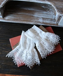 Thin lace cuffs(White-M)