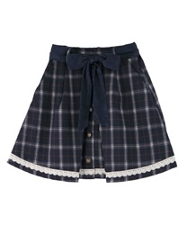 Front button design culottes(Navy-Free)