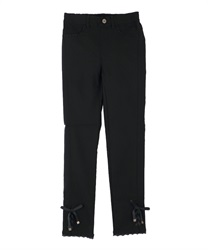Hem Lace Up Leggings Pants(Black-Free)