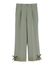 Tapered pants with a tapered hem(Green-Free)
