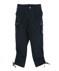 Pocket Embroidered Cargo Pants(Navy-M)
