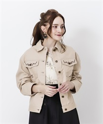 Oversized jacket(Beige-Free)