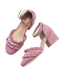 Ruffle separate pumps(Pale pink-S)