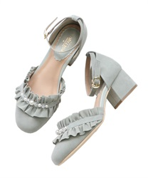 【2Buy20%OFF】Ruffle separate pumps(Green-S)