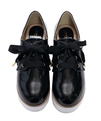 【2Buy20%OFF】Glitter line shoes(Black-S)