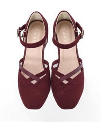 Embroidered Separate Pumps(Wine-S)