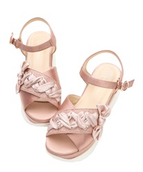 Lace up sports sandals(Pale pink-S)