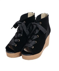 Tulle switching Sandal boots(Black-S)