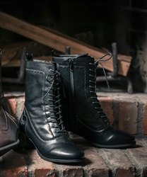 Lace up boot(Black-S)