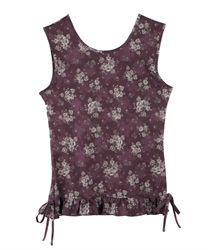 【axes femme yoga】Quick Dry Flower Patterned Built-In Bra Tank Top(Wine-Free)